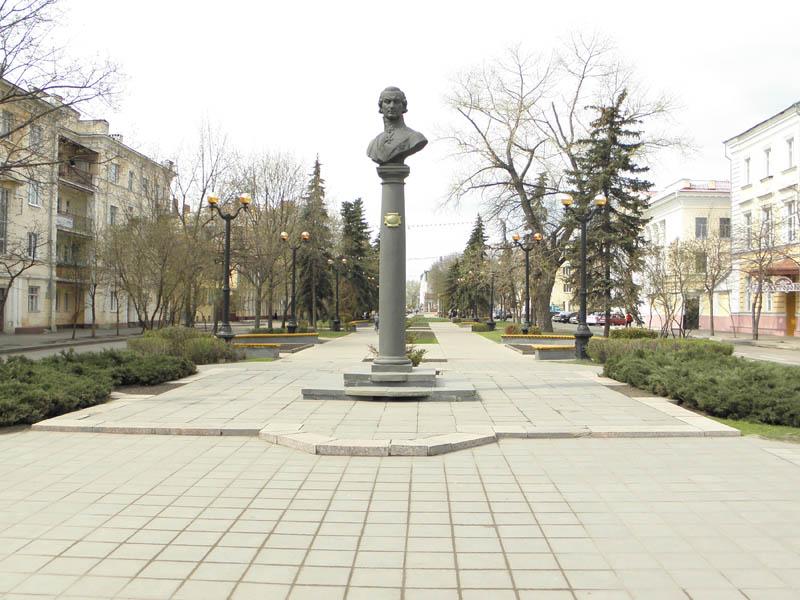 Улица Державинская. Памятник Г.Р. Державину