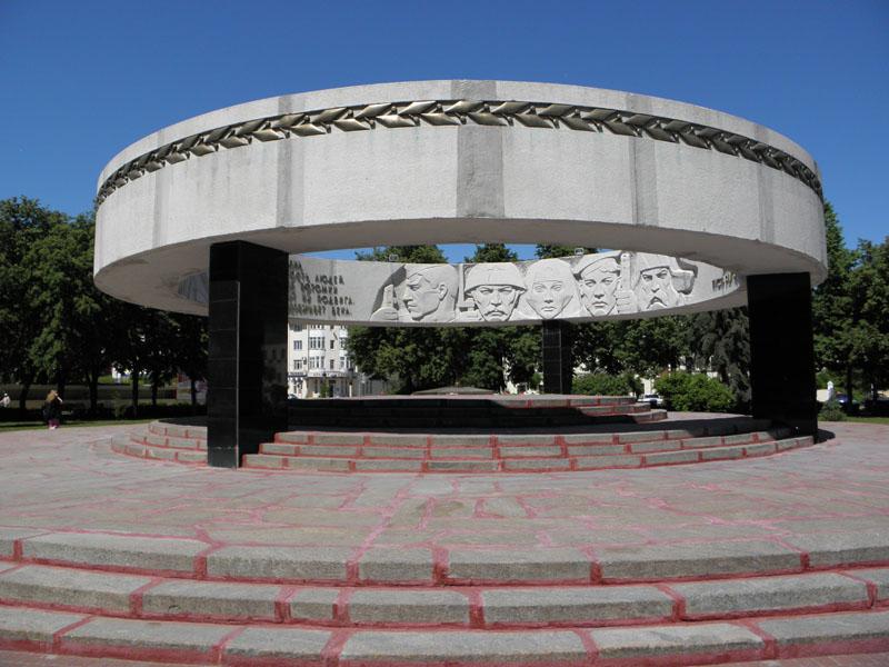 Мемориал Вечный огонь на Соборной Октябрьской площади Тамбова